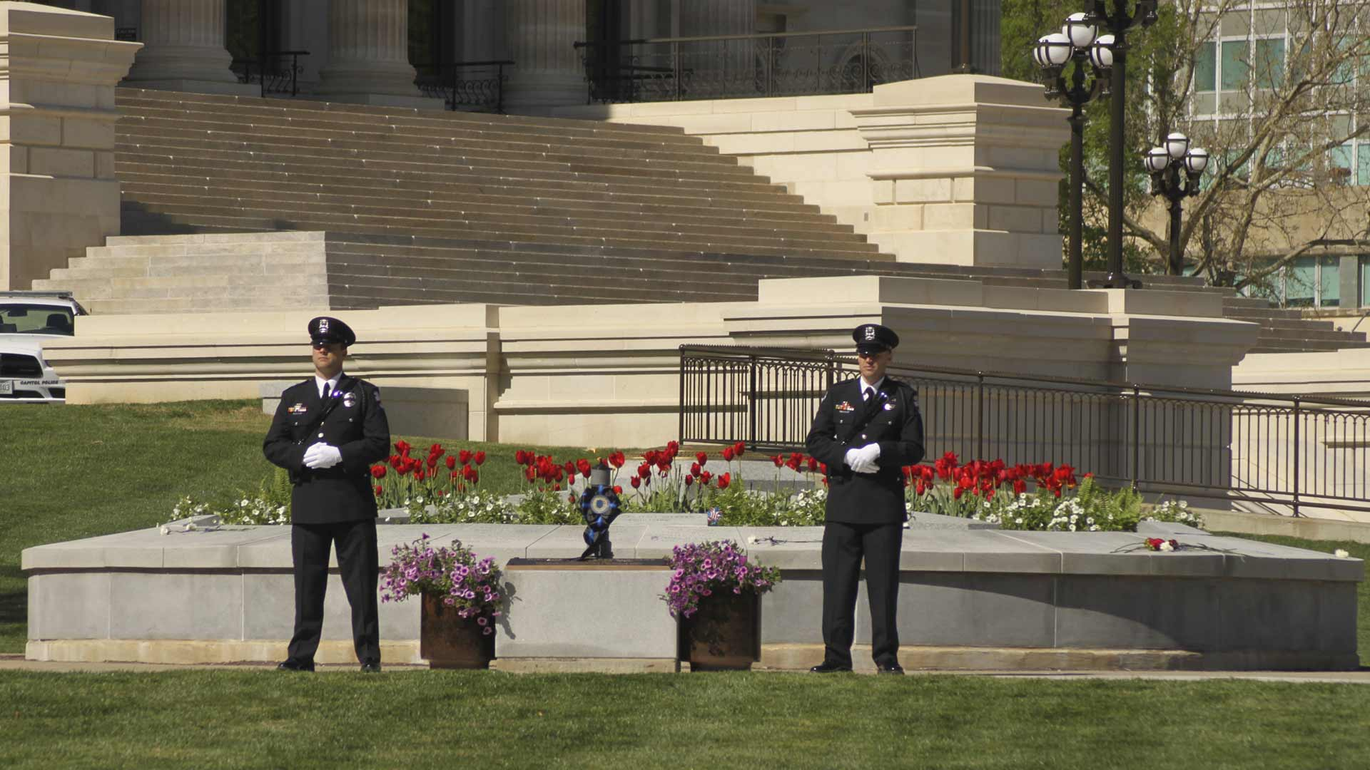 Officers at memorial Layer-43