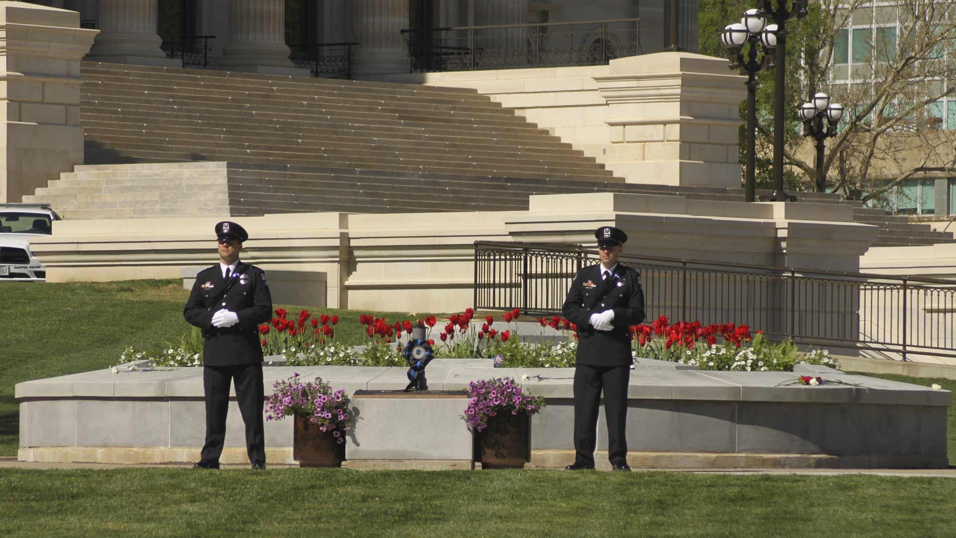 Officers at memorial Layer-43