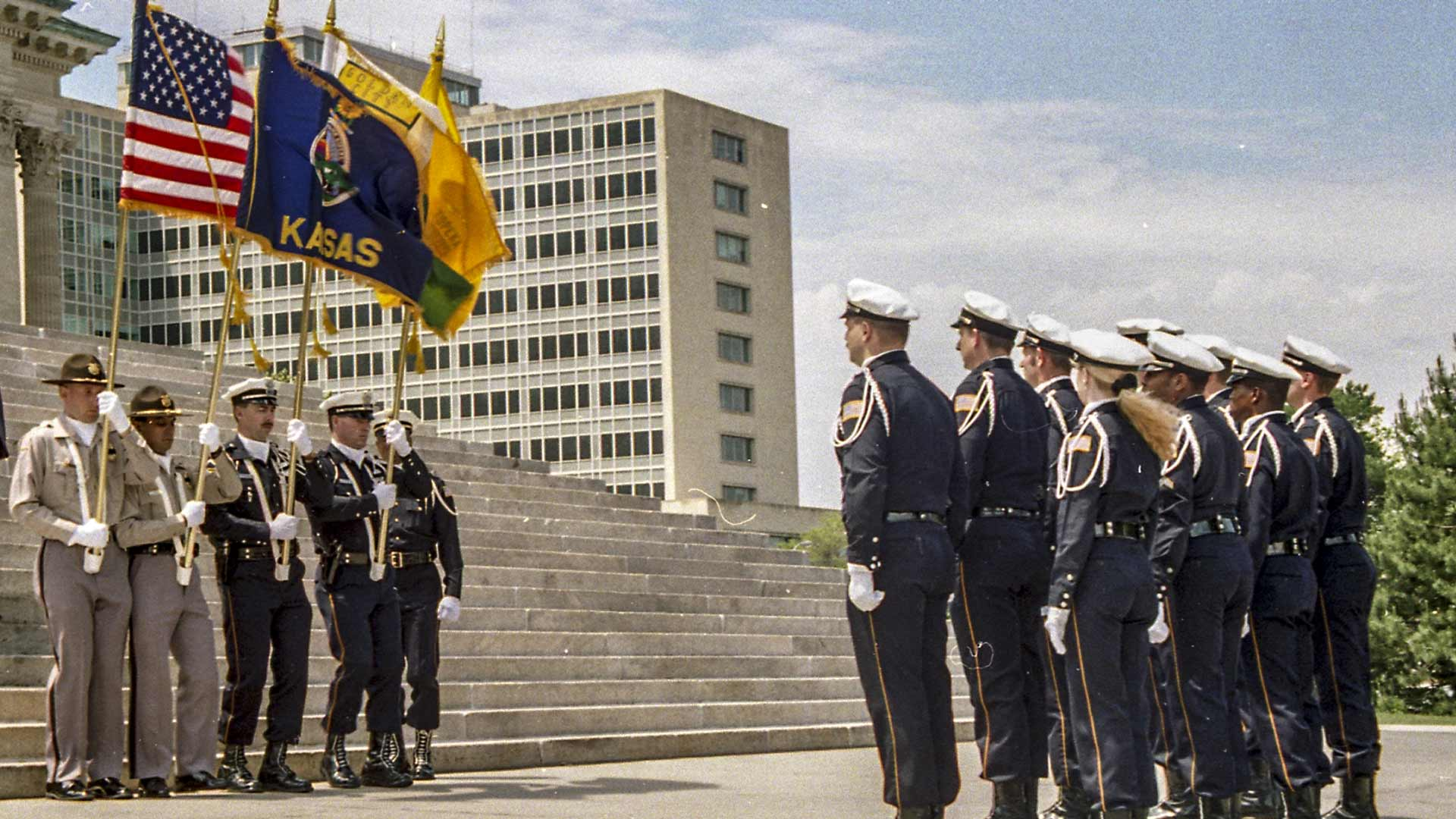 Officers and flags Layer-7